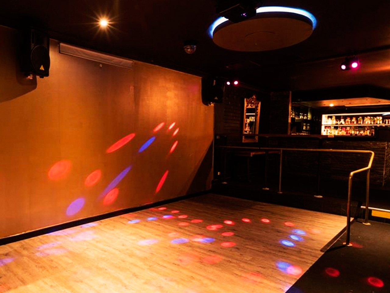 Dance Floor And A Mini Bar Behind Inside The Function Room