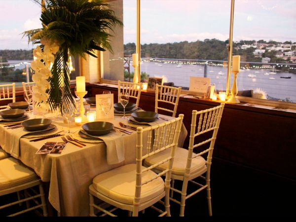 Venue with Swan River views