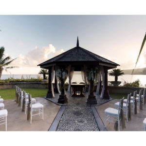 Wedding pergola overlooking the sea