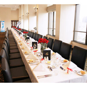Long table setup for an event