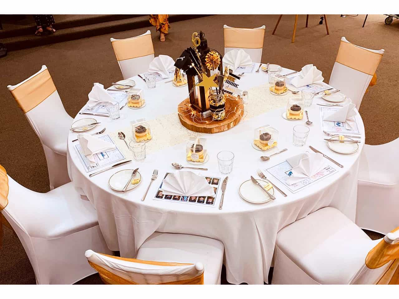 Banquet table for event